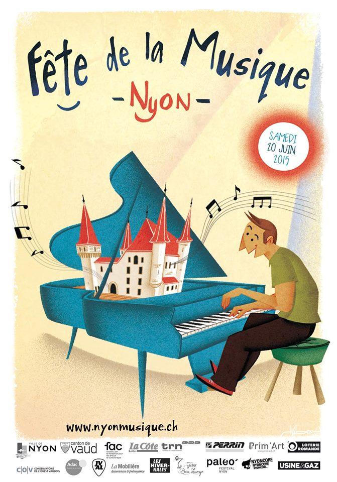 Nyon Fête de la musique - Poster - 2015